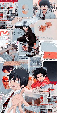 Wallpaper aesthetic - Rin Ao no Exorcist Wallpaper Animes, Cute Anime Wallpaper, Naruto Wallpaper, Animes Wallpapers, Cartoon Wallpaper, Rin Okumura, Anime Manga, Anime Art, Blue Exorcist Anime