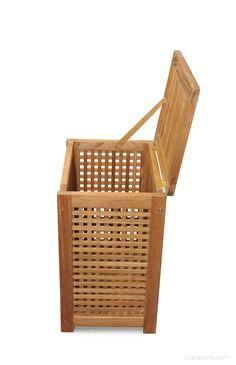 Teak Hamper - great for bathrooms, exercise clubs, pools etc. Plastic Laundry Basket, Hamper, Pools, Teak, Bathrooms, Exercise, Organization, Storage, Home Decor