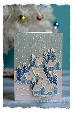 Tkanina božićne čestitke Zima Dobrodošli