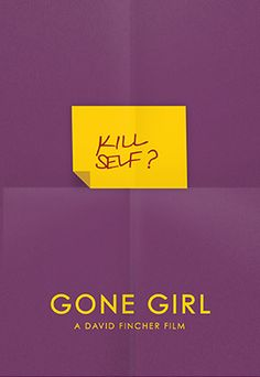 Gone Girl (2014) ~ Minimal Movie Poster by Dat Tran #amusementphile