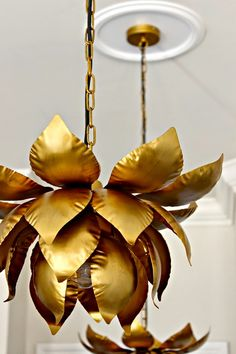 World Market Lotus Pendant Lights in the kitchen