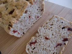 Gluten Free Oat Bread Recipe with Cinnamon and Cranberries