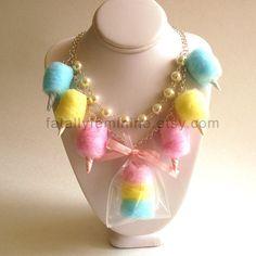 Cotton Candy ketting carnaval suikerspin door FatallyFeminine