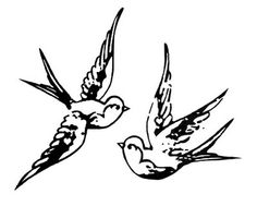 swallow tattoo - would be pretty if they were carrying a heart or something to pull them together.