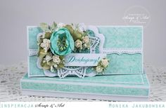 Turquoise card by Monia - Cards and Paper Crafts at Splitcoaststampers