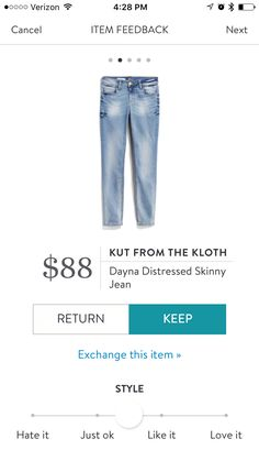 Kut From The Kloth - Dayna Distressed Skinny Jeans - light wash - Stitch Fix 2017