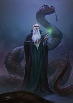 Salazar Slytherin, Fadly Romdhani on ArtStation at https://www.artstation.com/artwork/llZbz