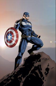 Captain America by jake bartok
