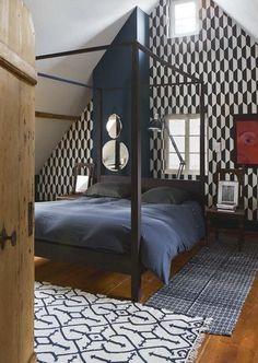 Farrow and Ball (Hague Blue ) Hague Blue, Outdoor Furniture, Outdoor Decor, Modern Decor, Sleep, Living Room, Interior Design, Bedroom, Home Decor