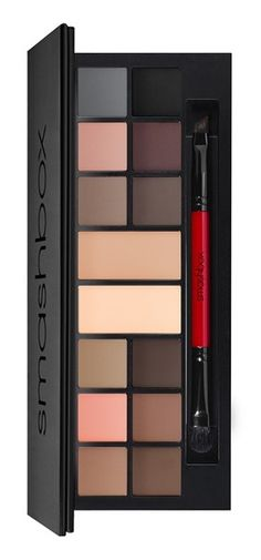 This gorgeous Smashbox Photo Matte Eye Palette is filled with 12 matte wet/dry eyeshadows plus two double-size base shades that can be used as a liner, eyeshadow or brow powder.