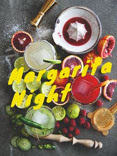 magarita party with 3 recipes: classic, cucumber serano chili and blood orange raspberry Healthy Cocktails, Easy Cocktails, Cocktail Drinks, Cocktail Recipes, Party Drinks, Fun Drinks, Beverages, Refreshing Drinks, Summer Drinks