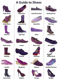 A Guide to Shoes -- I just like it because all the shoes are purple.