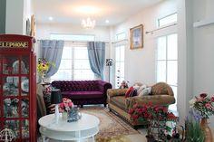 บ้านสไตล์โคโลเนียล - บ้านไอเดีย เว็บไซต์เพื่อบ้านคุณ White Houses, Colonial, Couch, Furniture, Home Decor, White Homes, Settee, Decoration Home, Room Decor