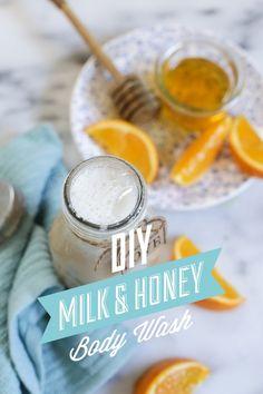 DIY Homemade Milk and Honey Body Wash | Live Simply