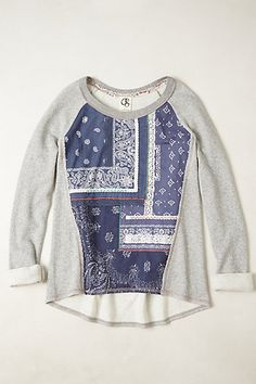 Bobbie Pullover #anthropologie sells for $88.00 . I could totally rehab a sweatshirt or sweater into this but better