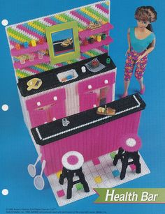Health Bar, Annie's Fashion Doll Plastic Canvas Club Pattern Leaflet FP07-02