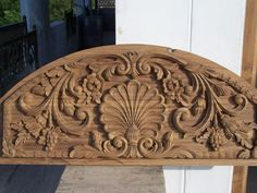 No automatic alt text available. Wood Bed Design, Wooden Door Design, Main Door Design, Wooden Doors, Wooden Clock, Wooden Crates, Furniture Design, Wood Carving Designs, Wood Carving Art