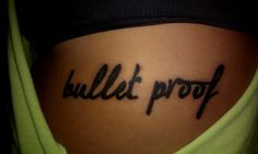 she's bullet proof ♥