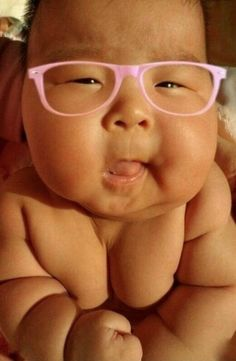 World's Cutest Baby Chubby and Wearing Pink Glasses How Adorable Epic Cuteness ---- hilarious jokes funny pictures walmart humor fails
