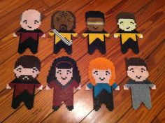 Star Trek The Next Generation Perler bead cast by vswander