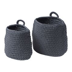 IKEA - NORDRANA, Basket, set of 2, , Each basket is unique since they are handmade.