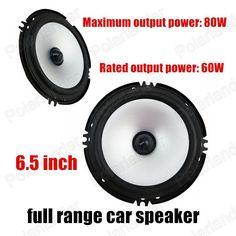 6.5 inch car audio speakers car speakers full range subwoofer 2x80W foam rubber edge free shipping hot sale
