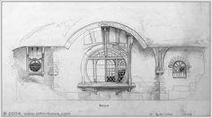 John Howe Bag End Concept drawing