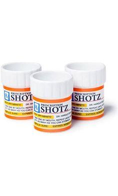 BigMouth Inc Prescription Pill Bottle Shaped Shot Glass Set, 3-Pack Best Price