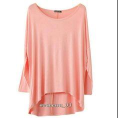 Coming Soon Batwing Hi-Lo Top Batwing Long Sleeve Hi-Lo Pullover Tops Light Pink Tops Tees - Long Sleeve