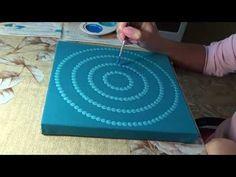 """Dot painting mandala. Acrylic Painting. Element """"Water"""". - YouTube"""
