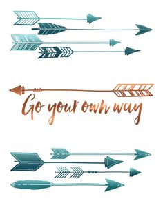 Arrow Wall Art Print - Go Your Own Way