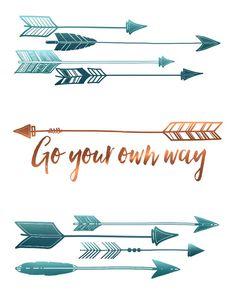 Arrow Wall Art Print - Go Your Own Way