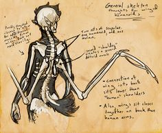 """So, someone was asking me about my thoughts on anatomy and skeletal structure for winged """"human"""" characters and it made me think """"Huh... how do I think about that?"""" So I decided to do a quick littl..."""