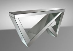 Modrest Rexford Transitional Mirrored Console Table VGMC-GD-1045