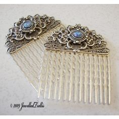 Fun filigree hair combs