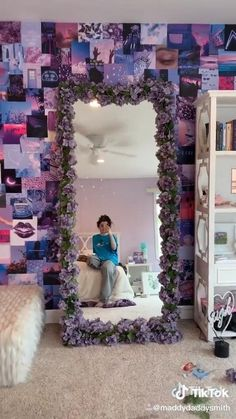 aesthetic room decor - does not belong to me! credit to rightful owner! Indie Room Decor, Cute Bedroom Decor, Aesthetic Room Decor, Room Ideas Bedroom, Bedroom Inspo, Purple Bedroom Decor, Purple Room Decorations, Girls Bedroom Purple, Diy Teen Room Decor