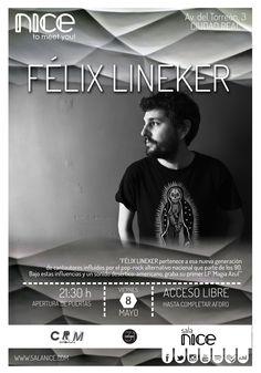 31Canciones presenta a FÉLIX LINEKER en Sala Nice (Ciudad Real)