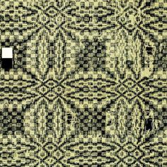 Mountain Cucumber / Governors Garden | overshot: table & wheel | warp: one-ply, tight twist, off-white cotton | weft: one-ply, loose twist, navy blue wool | Kentucky, U.S.A. | c. 19th century