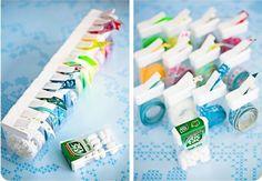 Une idée rigolote pour recycler les boites de TIC TAC : y ranger des rubans et les utiliser comme dérouleur !!