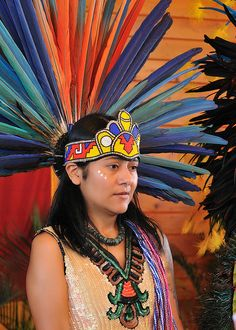The Tloke-Nahuake Traditional Aztec Dancers perform at the 36th Annual Miccosukee Indian Arts Festival.