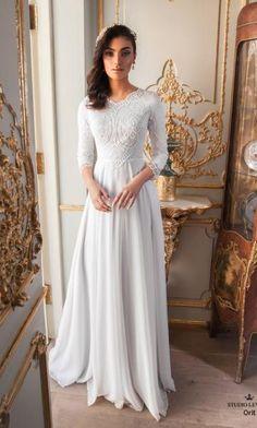 Modest wedding gowns 2017 orit (2)