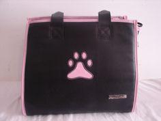 Pink & Black Small Pet Carrier/ Dog Travel Bag  #SmallTreasures