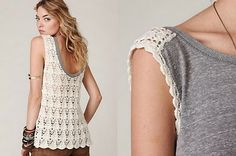 remera combinada♪ ♪ ... #inspiration_crochet #diy GB