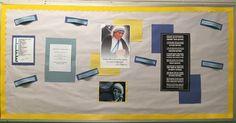 Mother Teresa bulletin board
