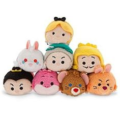 Disney Store Exclusive Mini Tsum Tsum JAPAN Alice in Wonderland Set of 8 Characters