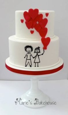 Happy Couple Cake - Art Attack: Incredible Cake Painting to Inspire You from Rensahw