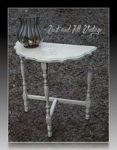 Painted French Style Shabby Chic Half Moon Table Turquoise | Half Moon Table,  Moon Table And French Style