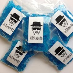 Bag of Breaking Rock Candy In Breaking Bad, Walter White's amazingly potent blue Crystal Candy cannot be replicated by his competitors. Rock Candy that looks just like the product cranked out by the master known as Heisenberg and his partner in crime, Jesse Pinkman.