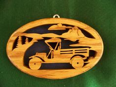 rustic scroll saw | Truck Plaque | Scroll Saw Patterns | Pinterest