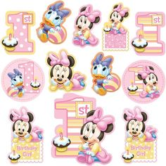 Disneys Minnies First Birthday Cutouts 12pc